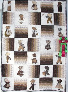 Sunbonnet Sue & Overall Sam in Brown.