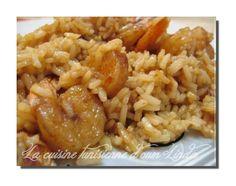 riz aux crevettes (tunisiennes)
