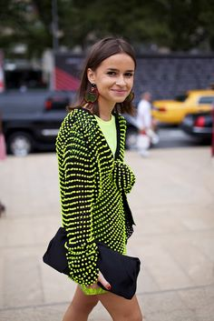 Miroslava Duma  Neons will still be hot next summer, so just go for that bright dress! ;)