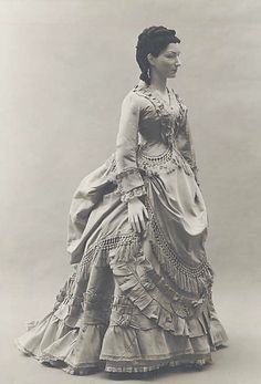 1871  American Duchess:Historical Costuming: V337: Bustle Decoration Inspiration | Historical Costuming and sewing of Rococo 18th century clothing, 16th century through 20th century, by designer Lauren Reeser