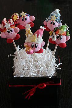 Kirby Cake Pops by Sweet Lauren Cakes, via Flickr