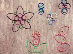 Painted string ornaments tutorial