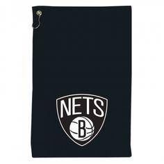 Brooklyn Nets 15x25 Sports Towel w/Grommet- BLACK   Nets Store