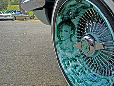 gorgeous detail, beauti car, lowrid, airbrush rim