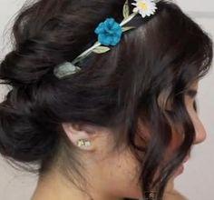 DIY Wedding Hair : DIY Summer Updo for Short Hair