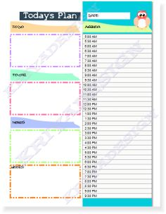 day planner organizer pdf printable daily planner by KriyaDesign for the bee