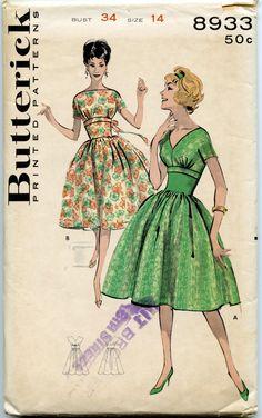 1960s Butterick 8933 Vintage Dress Pattern by GreyDogVintage, $20.00