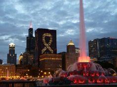 シカゴの「バッキンガム噴水」