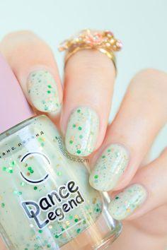 [Pretty summer nail polish - Dance Legend Kiwi Smoothie. Avail. at #SoNailiciousBoutique] Lovely!