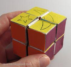 Как сделать кубики трансформеры из бумаги