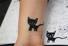kitten, music tattoos, chat noir, black cats, cat tattoos, wrist tattoos, a tattoo, kitty, ink