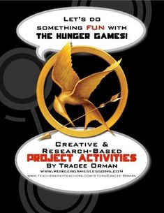 Let your students be creative! Project ideas and prompts for The Hunger Games by Suzanne Collins. Over 40 project ideas (with detailed directions) to use as a culminating activity... the hunger, game camp, hunger games activities, hunger games projects, project ideas, teach, brave game