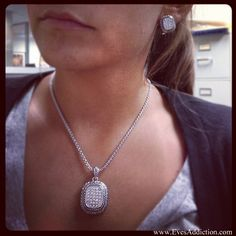 Designer Inspired Bali Style Pave Necklace and Earring Set $36