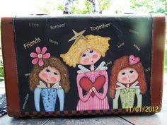 The traveling sister's suitcase, painted by Bonnie