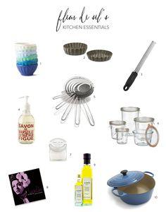 Fleur de Sel's Kitchen Essentials  Read more - http://www.stylemepretty.com/living/2013/10/02/fleur-de-sels-kitchen-essentials/