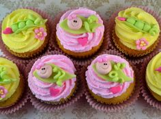 Sweetology: Sweet Pea Baby Shower Cupcakes