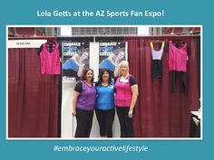 Lola loved meeting all of our fans at the Arizona Sports Fan Expo today!  #embraceyouractivelifstyle