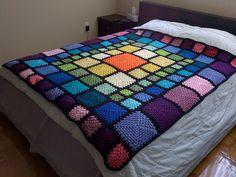 Rainbow granny square blanket!  I need to make this!