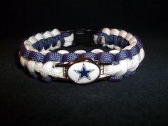Dallas Cowboys Paracord Bracelet by kgsparacordstore on Etsy, $16.00