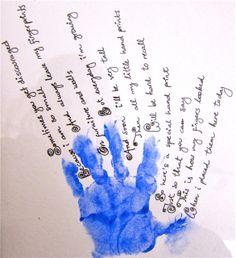 hand print ideas, art project, art idea, idea craftyidea, hands, print poem, handprint art, hand prints, crafti idea