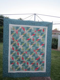 Serendipity 1 by quiltcraft, via Flickr  Made using Odds and Ends by Julie Comstock jelly roll after watching a you-tube tutorial from Missouri Star Quilts.
