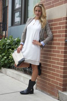Happy to find a refreshing way to rock boots and a blazer this fall! @marshalls {www.theclosetandthecook.com}