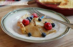 Baked Pancake with Fruit Topping Recipe #KChamps