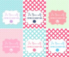 Even more Be Yourself Prints from Sweet Rose Studio! I love this mint and pink version! fun printabl