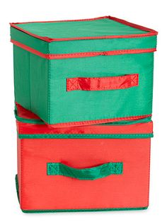 Keep holiday linens in boxes that nest when not in use