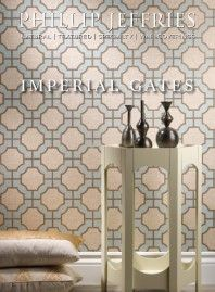 Imperial Gates wallpaper in Dove & Harbour on White - Phillip Jeffries 2013