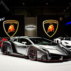 Lamborghini Veneno, gets to  sixty in 1.9 seconds. That's really fast.