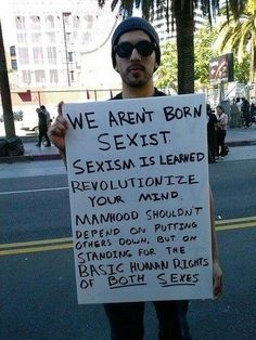 we aren't born sexist