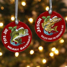Fisherman's Christmas Personalized Ornament