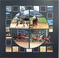 Beautiful layout! Concours Chevaux de Roy - Creavenue  With a Mosaic style that is so stunning!