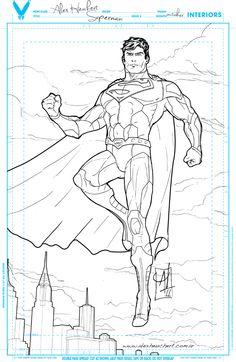 Superman. Drawing.