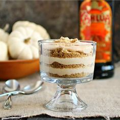 Kahlua Trifle - a great dessert to be shared with the family over a holiday dinner.