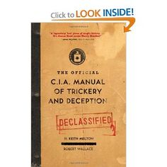 The Official CIA Manual of Trickery and Deception. Circa 1953. $16.49