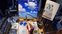 How to paint clouds #acrylic #painting #lesson