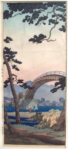 Kintai Bridge, by Tsuchiya Koitsu, 1936