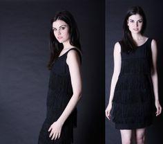 Little Black Dress   Black Fringe Dress   Flapper by aiseirigh, $108.00