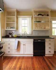 Floors and cabinets.