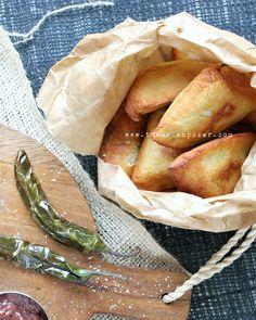 Samosas W/Rhubarb Chutney & Fried Green Chilies (Grain/Potato/Gluten Free)l