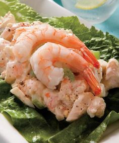 Recipe for Shrimp Salad Supreme - Scrumptious shrimp combines with celery, hard-boiled eggs and a variety of seasonings to make a chilled salad that will be the star of your next picnic.