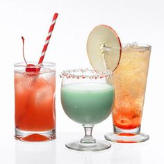 (2) CRANBERRY SPARKLER  For Kids: In a shaker, mix together 4 ounces cranberry juice, 1 ounce orange juice, and one teaspoon honey. Pour ove...