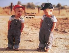 :) Cute. Must have Lil boys and dress them in overall in the future!