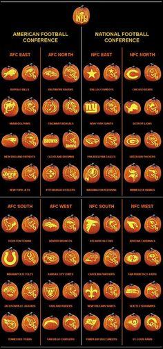 Free Printable NFL Pumpkin Carving Patterns