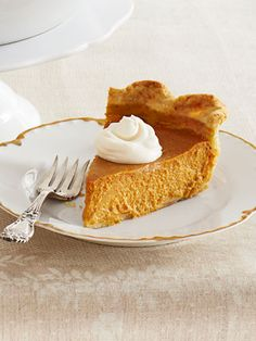 Get Ina Garten's recipe for Ultimate Pumpkin Pie with Rum Whipped Cream #Thanksgiving