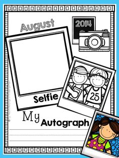 "SELF-PORTRAITS: Simply have your students draw a ""selfie"" each month throughout the school year. Don't forget to get their autograph too! Add a cover to your year-long collection to create a keepsake parents will love."