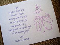 Flower Girl invite