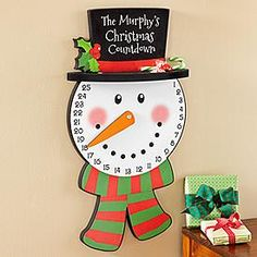 Snowman Countdown Advent Calendar | Personal Creations